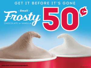 Wendy's Frosty only 50¢
