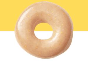 free Krispy Kreme lemon glazed doughnut