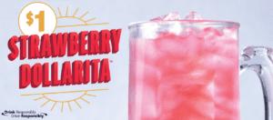 Applebee's $1 Strawberry Margarita