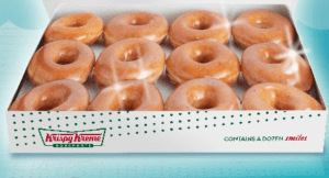 Buy one get one free dozen Krispy Kreme