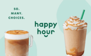 Starbucks coupon Happy Hour Buy One Get One Free