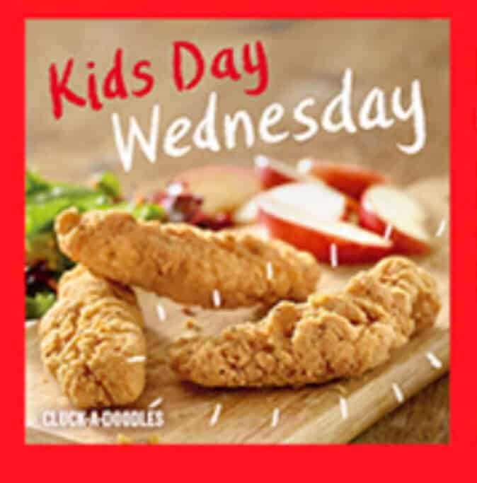 Red Robin kids day Wednesday discount