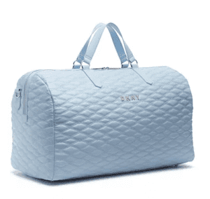 DKNY BLUE QUILTED DUFFLE BAG LUGGAGE