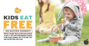Kids eat Free Easter 2019 Applebee's