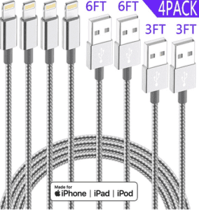 apple lightning cables 4 pack
