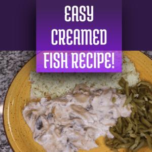 easy creamed fish and mushrooms recipe