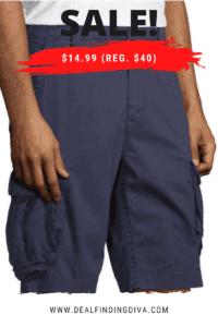 jc penney men's cargo shorts promo code