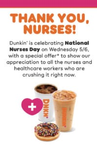 national nurses day at dunkin 2020