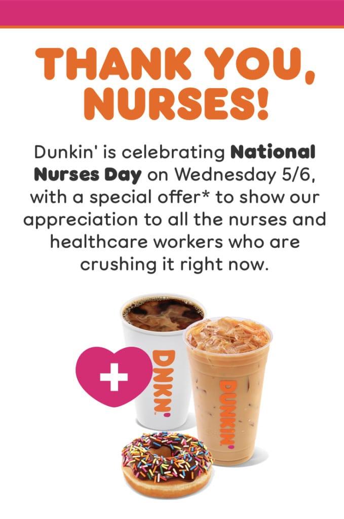 national nurses day at dunkin 2020