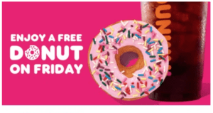 national donut day 2020 free donut at dunkin