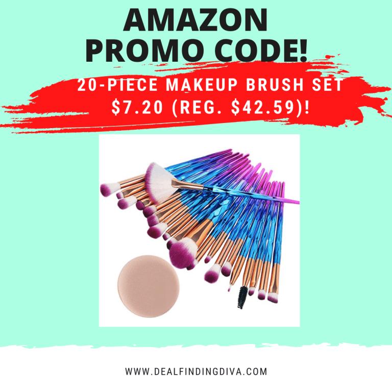 20 piece makeup brush set amazon promo code