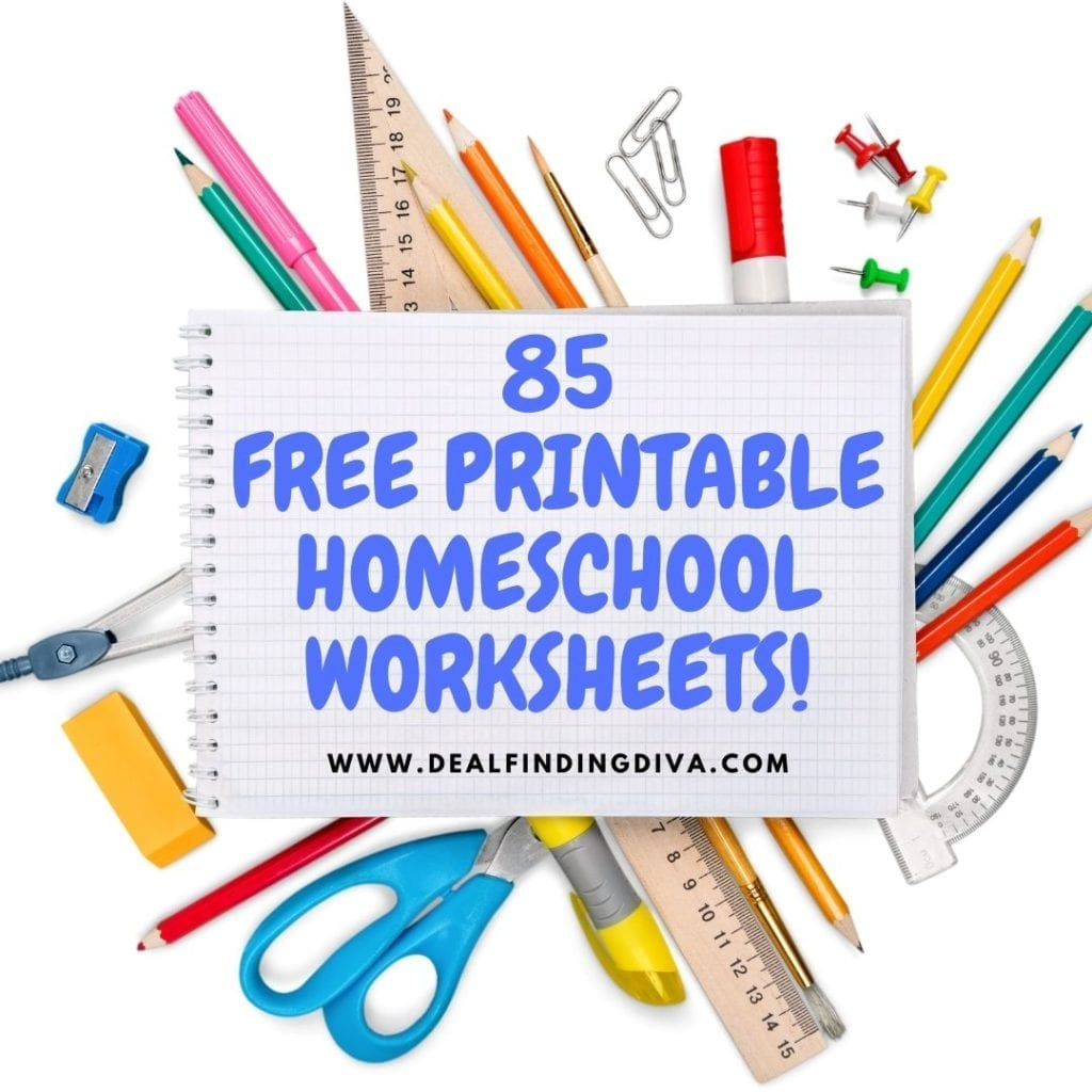 85 FREE HOMESCHOOL printables WORKSHEETS
