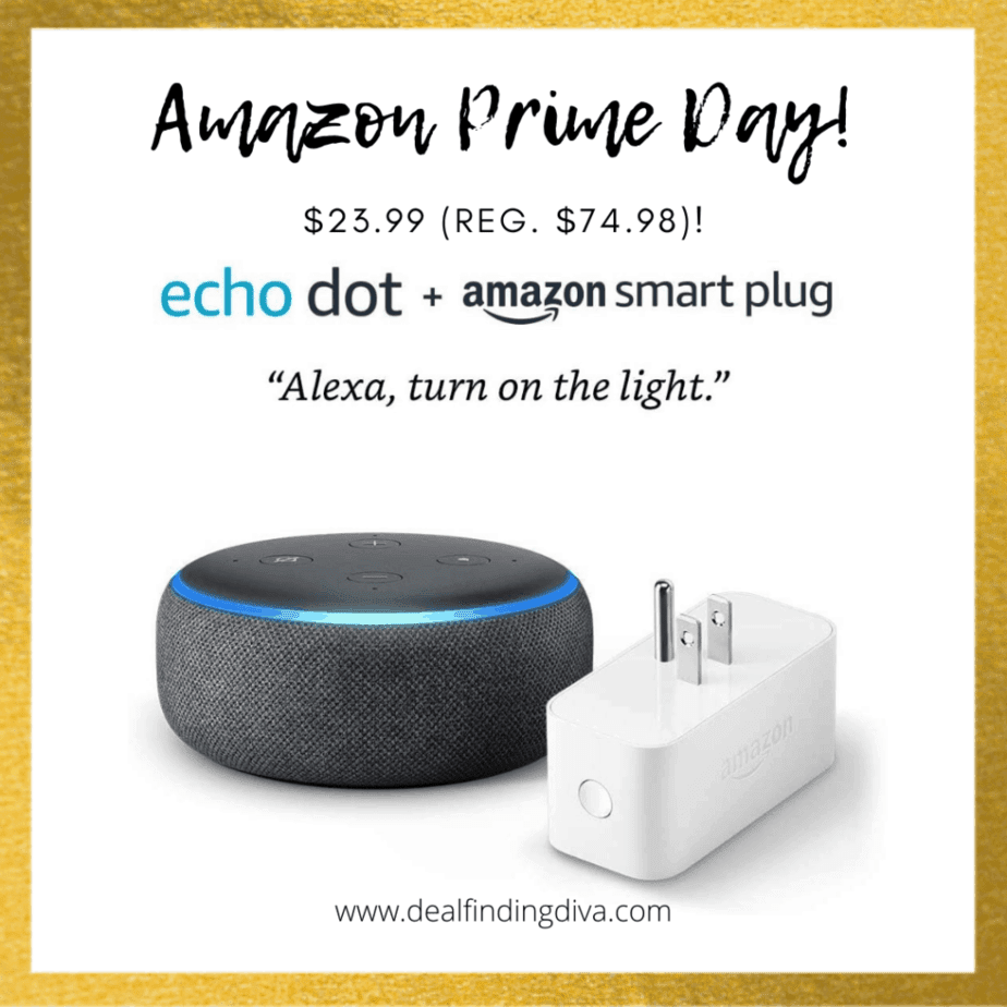 amazon prime day 2020 echo dot 3rd generation with smart plug