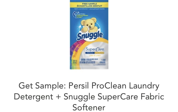 free samples of persil and snuggle