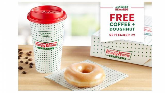 Krispy Kreme National coffee day 2020