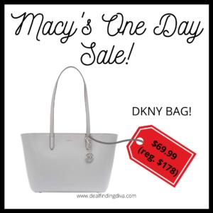 MACY'S ONE DAY SALE DKNY SUTTON