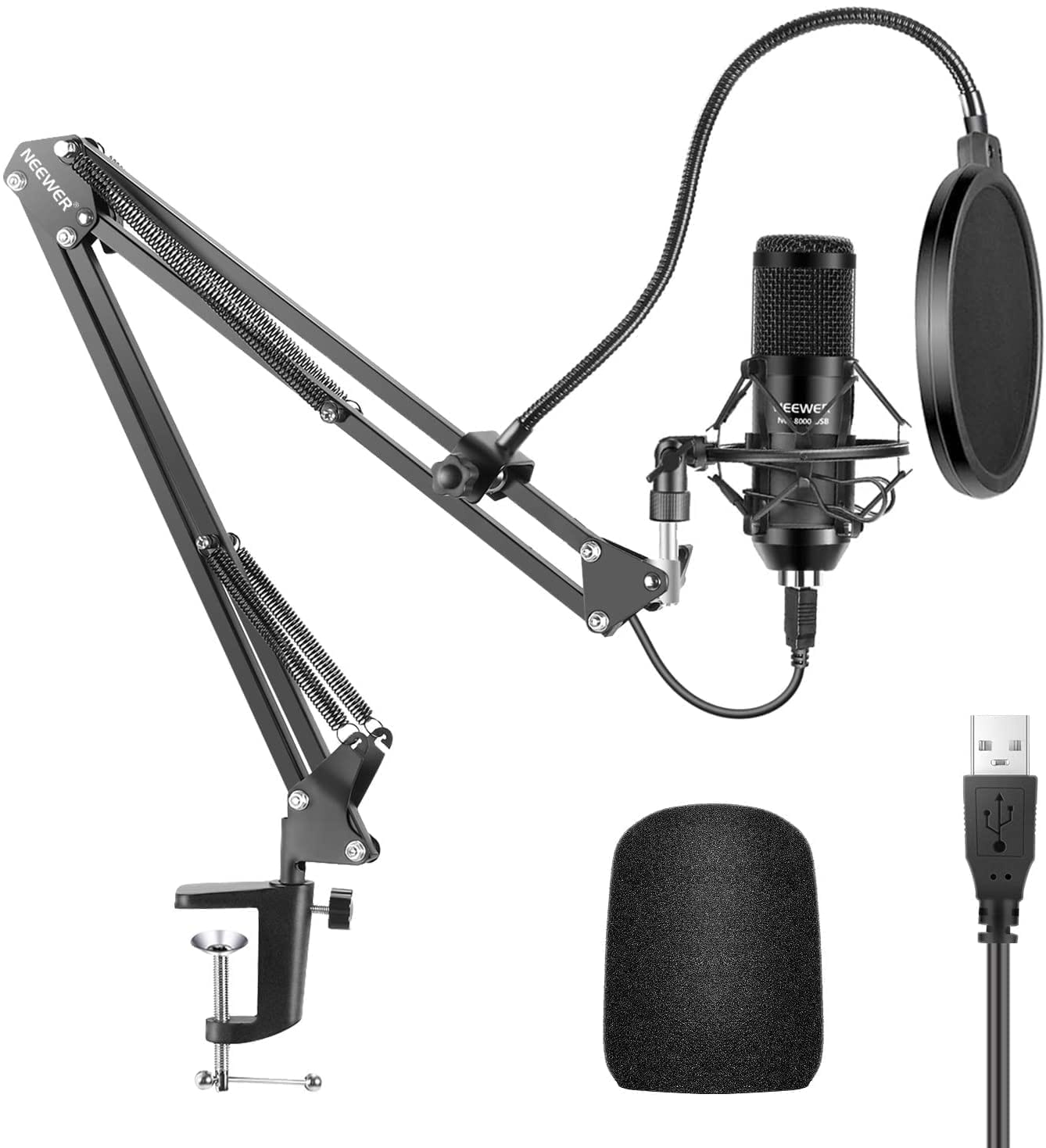 recording microphone Neewer recording kit usb