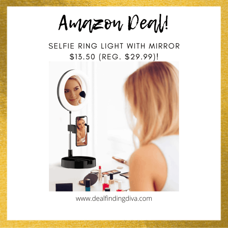 selfie ring light with mirror amazon daily deal