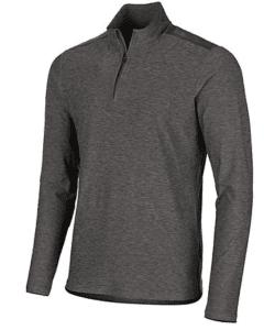 men's pullover zip grey