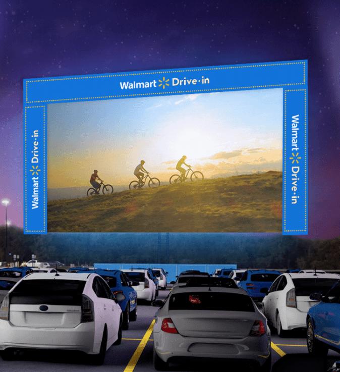 free Walmart drive-in movies