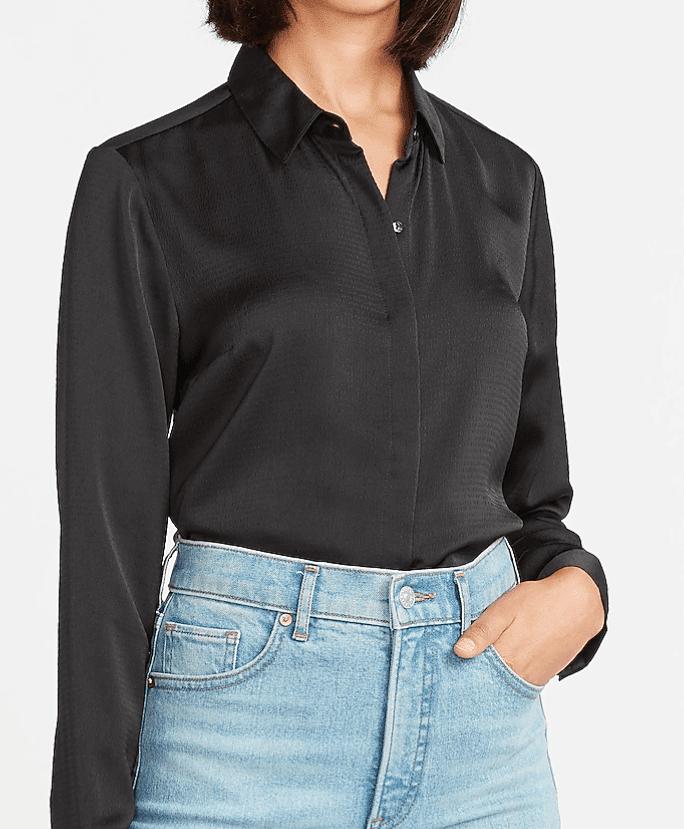Express sale satin textured shirt