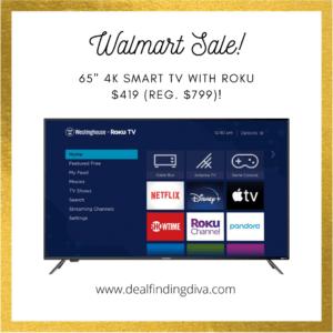 westinghouse 65-inch 4k smart tv with roku