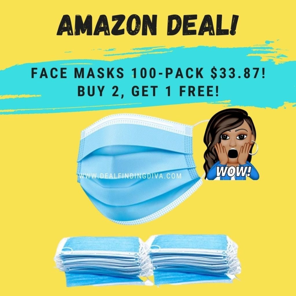 disposable face masks 100 pack