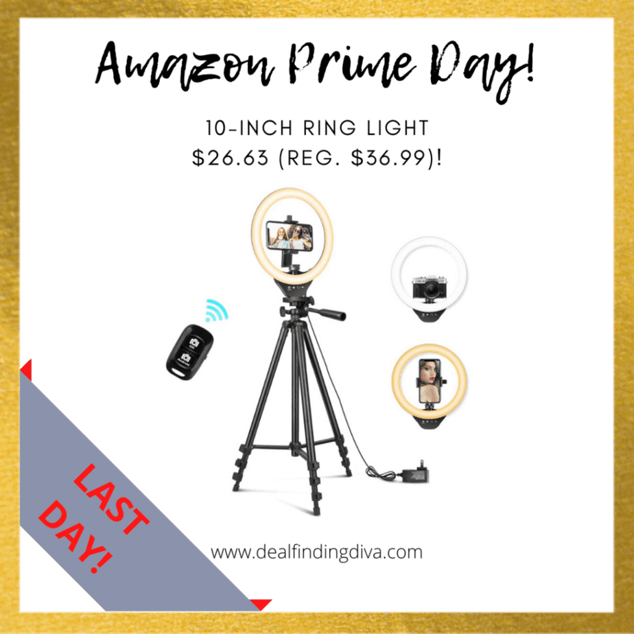 10-inch ring light deal amazon prime day 2020