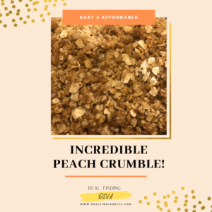 incredible peach crumble 2020