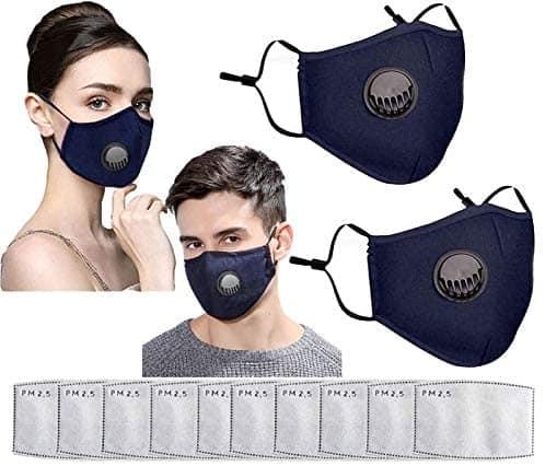 reusable face masks 2-pack