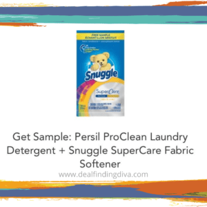 free samples snuggle and persil