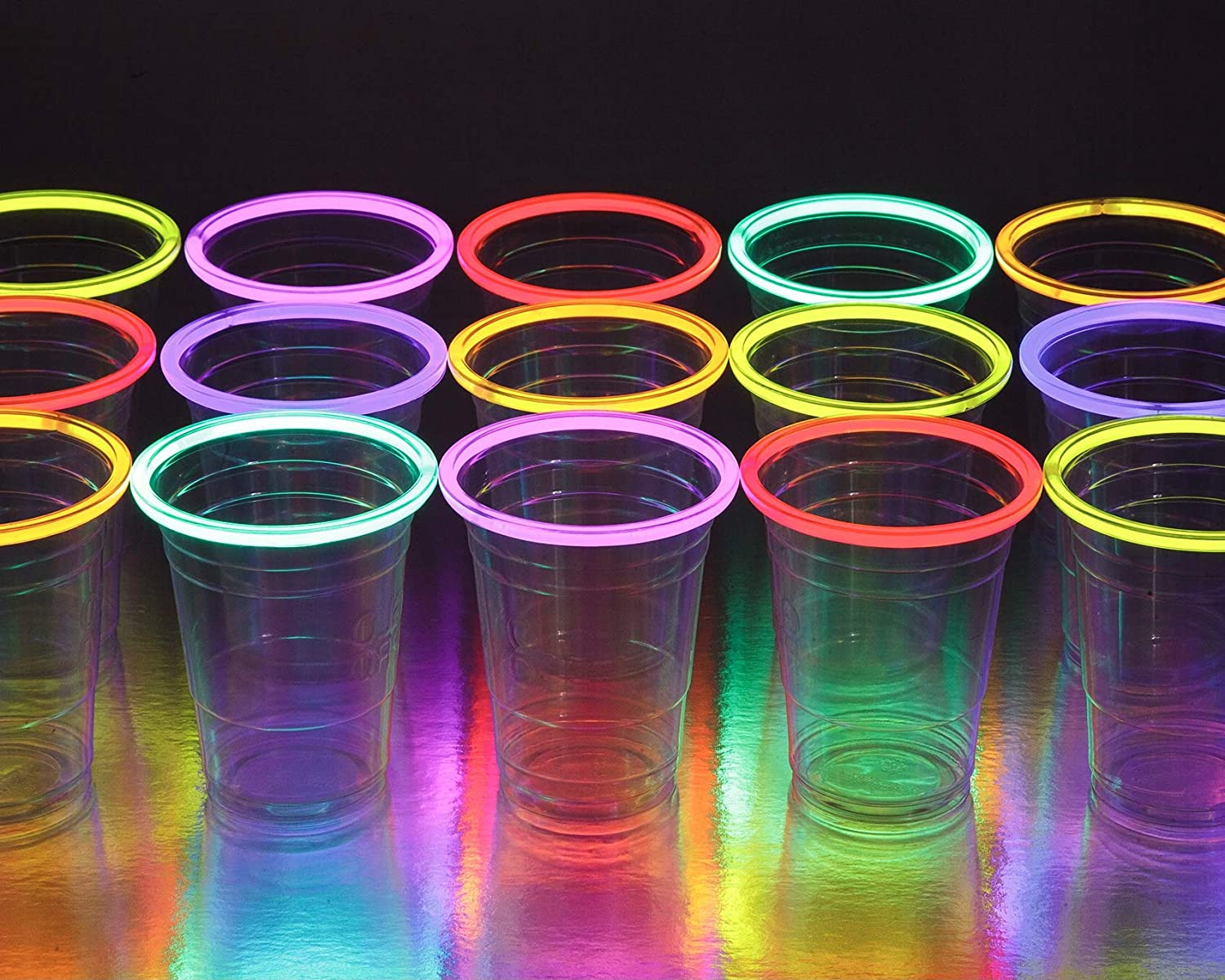 glowing party cups