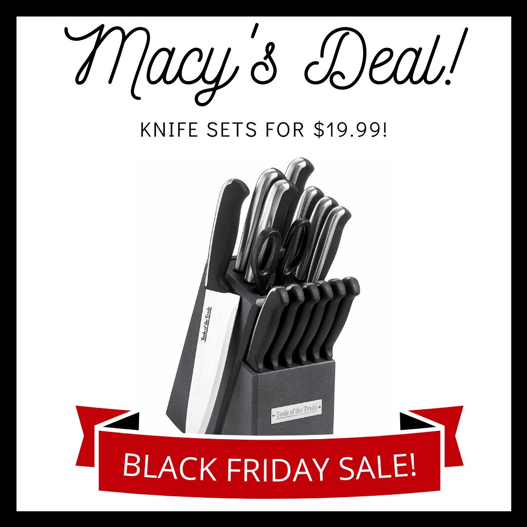 knife set sale macy's black friday