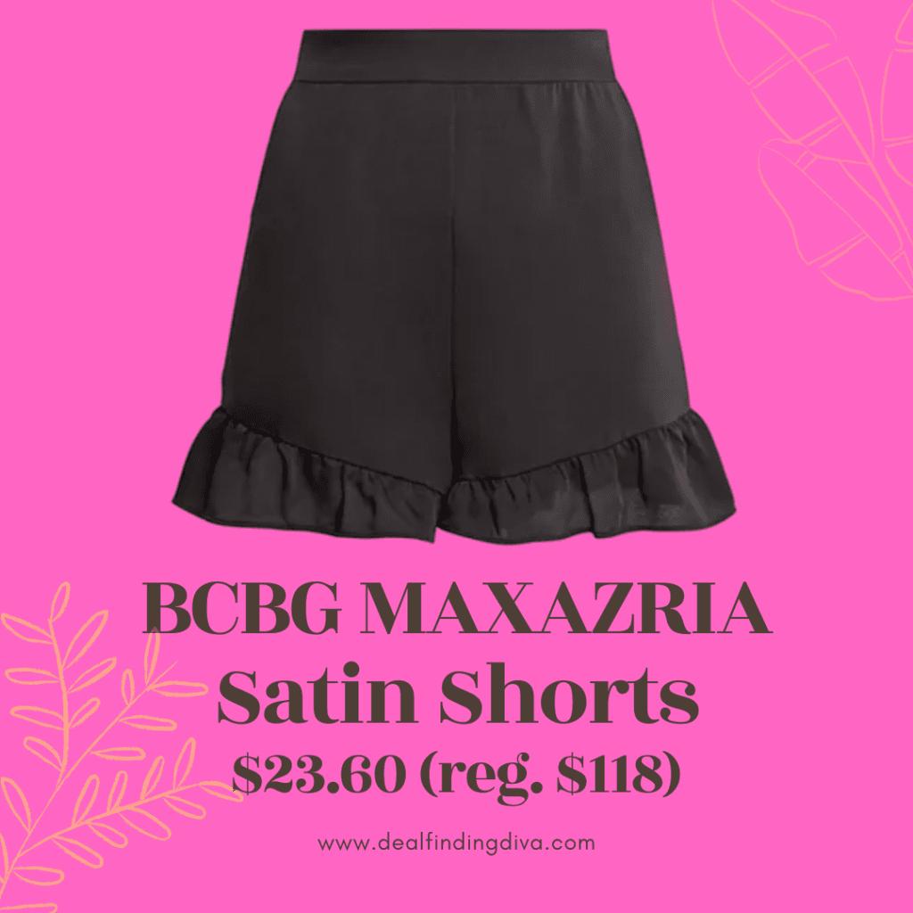 women's satin shorts sale