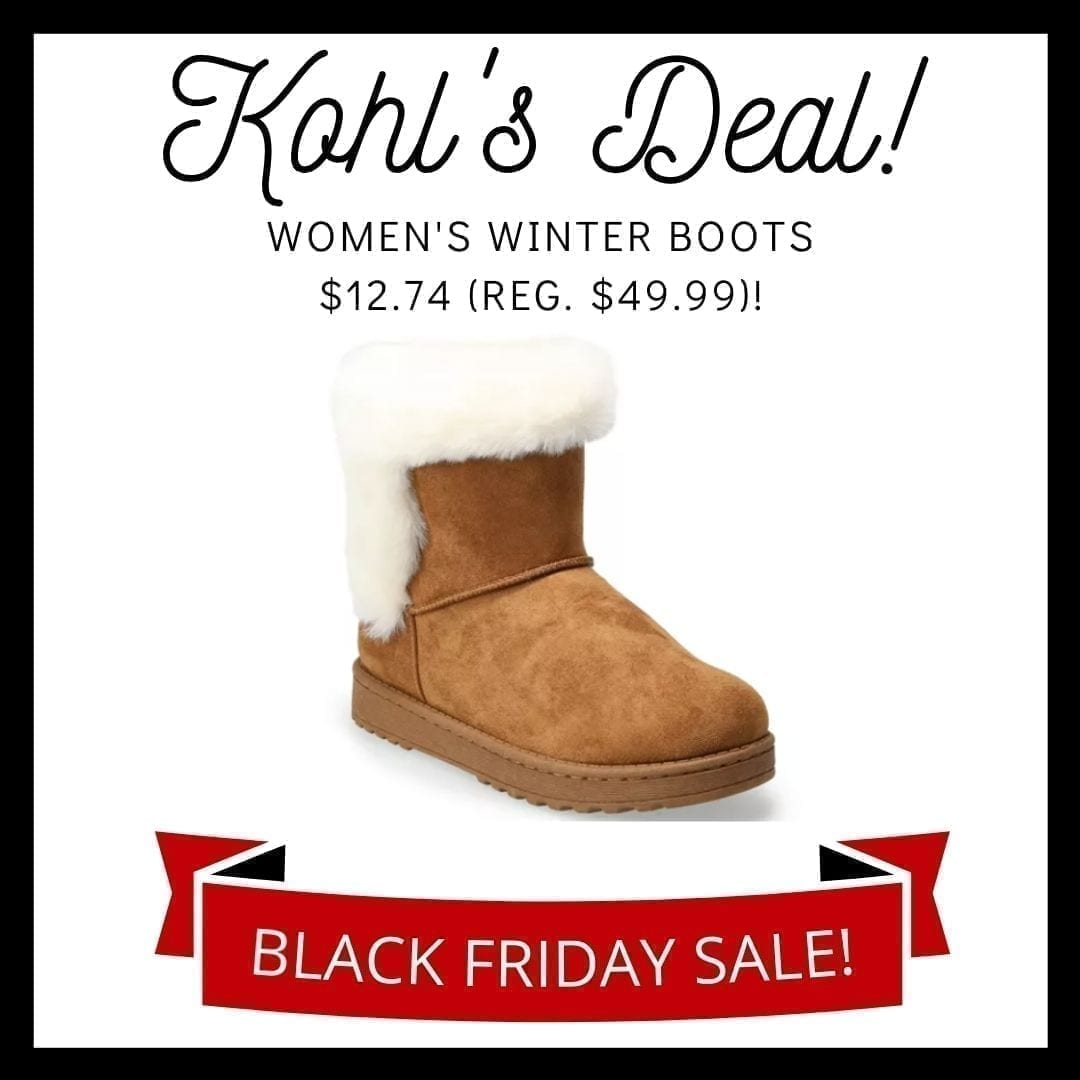 so paulina women's winter boots kohl's black friday 2020